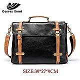 JPDP Luxury Brand PU Leather Vintage Men Briefcase Fashion Men's Handbag Office Tote Messenger Bag para Hombres Casual Negro