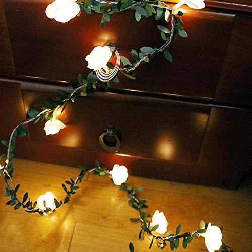 Coobbar Holiday Lighting 10/20/40leds Rose Flower led Fairy String Lights Battery Powered Wedding Valentine's Day Event Party Garland Decor Luminaria Lighting Strings