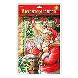 Trötsch Adventskalender Weihnachtsmann am Fenster Adventskalender mit Türchen: Weihnachtskalender Bildkalender Türchenkalender