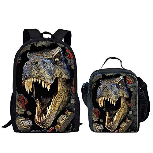 Advocator, Zainetto per bambini, Dinosaur Set-1 (Rosso) - Advocator packable backpack