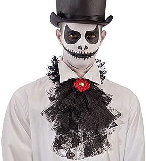 TiaoBug Jabot Vittoriano con Gemma e Polsini Bambini e Adulti Unisex Costume Accessori Carnevale Steampunk Pizzo Set Travestimenti Collo Collare a Volant Medievale