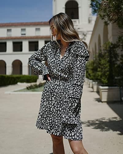 The Drop Women's Black Floral Print Ruffle-Shoulder Mini Dress by @spreadfashion