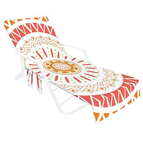 Lingge Strandstuhl Abdeckung Handtücher Weiche Faser Lounge Stuhl Handtuch Abdeckungen Mit Seitlichen Aufbewahrungstaschen, Strandtuch Für Pool Sun Lounger Sonnenbaden Urlaub Well Made