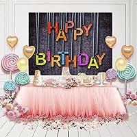 JUSTXIANG 写真の背景の背景の誕生日パーティーの装飾の女の子のビニール布のしわに抵抗力がある背景 (Color : Pink1, Size : 10x13.3ft)