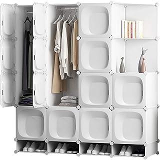 Penderies Combinaison Blanche en Couches Location Chambre Chambre Armoire étudiant Montage Simple Push-Pull Moderne Liuyu.