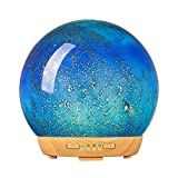 COOSA Glass Essential Oil Diffuser, 250ML Aromatherapy Diffuser & Cool Mist Humidifier with 4 Timer & 14 Ambient Light, Waterless Auto Shut-Off Settings for Baby Home Office