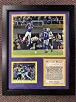 "Legends Never Die Minneapolis Miracle - Minnesota Vikings NFL Divisional Playoff 2018 Collectible | Framed Photo Collage Wall Art Decor - 12""x15"""