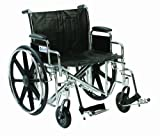 Drive DeVilbiss Healthcare Sentra EC Rollstuhl mit Selbstfahrer, bariatrisch, robust, Chrom, 50,8 cm Sitzbreite -