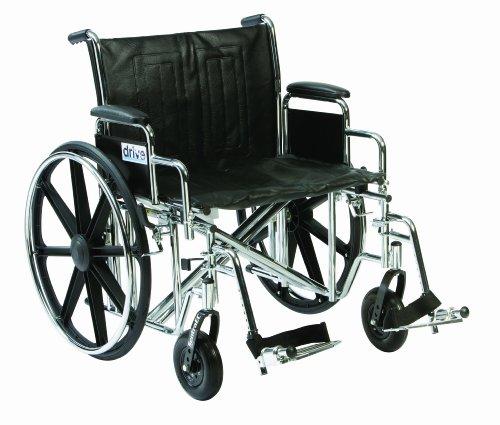 Disco DeVilbiss Healthcare Sentra EC para personas con sobrepeso/Heavy Duty cromado Autopropulsado asiento de silla de ruedas (20cm)