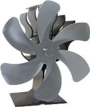 LOVIVER Ventilador de Chimenea para Estufa de leña de 6 aspas - Motores silenciosos mejorados Circula el Aire Caliente/calentado Estufas de leña/leña - Gris