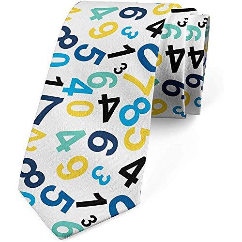 Mathillda Lazo de los hombres, diseño temático matemático, corbata, regalos perfectos multicolores para la corbata de la moda
