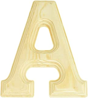 Homeford Pine Wood Beveled Wooden Letter A, Natural, 6-Inch