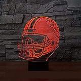 Casquette de rugby 3D lumière LED acrylique visuel créatif tactile Illusion LED veilleuse USB LED batterie externe lampe 3D