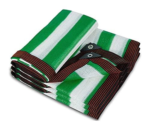 ZZYE Malla Sombreo Cubiertas de Plantas, Malla de Sol, 80% Verde/Blanco Protección Solar Shade Paño Anti-UV Jardín Exterior Terraza Patio Shade Net Lona Toldo (Color : Green/White, Size : 2x3m)