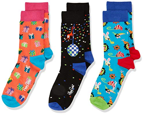 Happy Sokken Baby Kids Party Animal Gift Box Sokken (pak van 3)