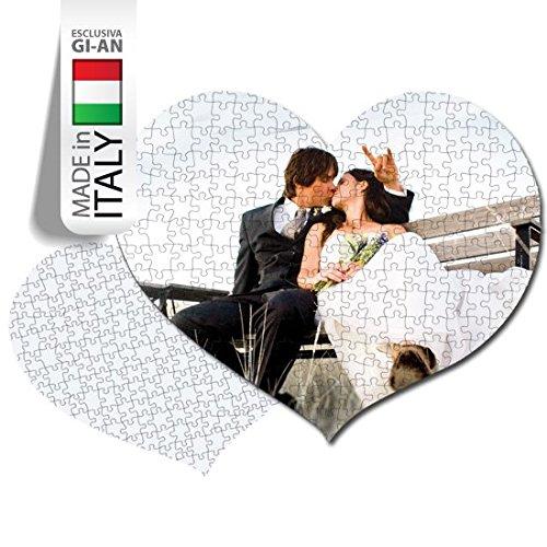 PUZZLE PERSONALIZZATO PERSONALIZZABILE STAMPA FOTO AMORE LOVE CUORE 108 TASSELLI
