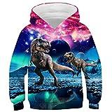 Idgreatim Youth Hoodies Pullover novità 3D Lion Hooded Jumpers Pocket Sweatshirts M