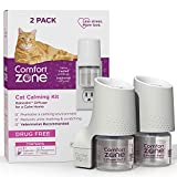 Comfort Zone 2 Diffusers Plus 2 Refills Cat Calming Kit (2-Room Pack) for a Calm Home   Veterinarian Recommend   De-Stress Your Cat and Reduce Spraying, Scratching, & Other Problematic Behaviors