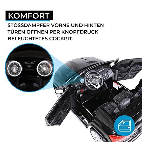 Actionbikes Motors Kinder Elektroauto Mercedes GLS63 Allrad Leder Sitz Kinderfahrzeug Kinderauto 45 Watt 2 Sitzer (Schwarz) - 3