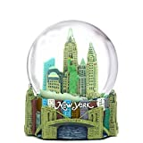 new york figurines - Mini New York City Snow Globe (2.5 Inch) NYC Skyline in This Souvenir Figurine with Statue of Liberty, (45mm Globe)
