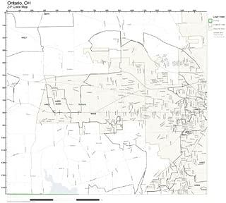ZIP Code Wall Map of Ontario, OH ZIP Code Map Laminated