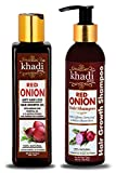 Khadi Global Red Onion Anti Hair Loss & Hair Growth Combo with Red Onion Oil 200ml + Red Onion...