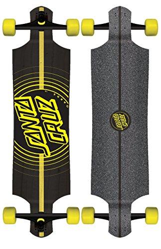 Santa Cruz Impact Drop Down Cruzer Complete Skateboard, Assorted, 40in L x 10in W