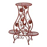 Summerfield Terrace Red Rooster Iron Triple Plant Stand
