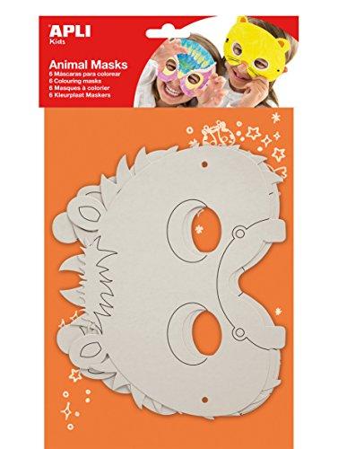 APLI Kids - Mscaras de cartn animales, 6 uds
