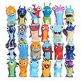 YUNLILI Modelo de Personaje 24 unids/Set Slugterra Figuras de acción Juguete 5 cm Mini Slugterra Anime Figuras Juguetes muñecas babosas niños niños niños Juguete