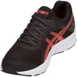 ASICS Zapatillas de running JOLT 2 para mujer, Negro/Flash Coral, 44.5 EU