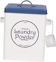 PETSOLA Waschmittel Pulver Aufbewahrungsdose mit Schaufel, 2 Farbe Auswahl - Weiß