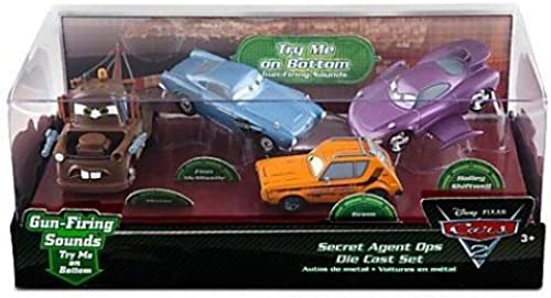 Disney   Pixar CARS 2 Movie Exclusive 148 Die Cast Car 4Pack Secret Agent Ops Mater, Grem, Finn McMissile Holley Shiftwell by Disney Interactive Studios