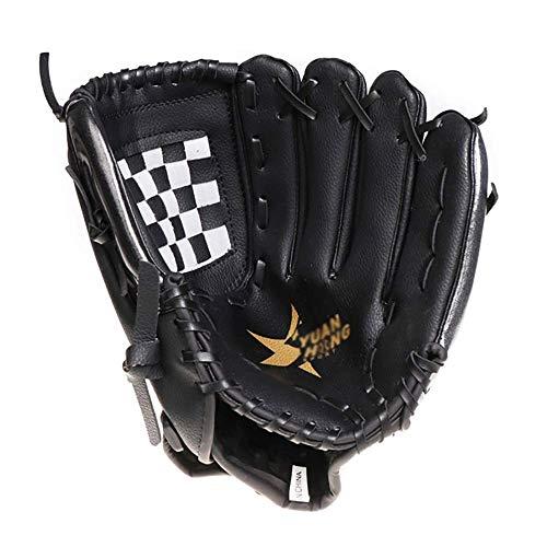 Baseballhandschuh verdicken Baseball-Handschuhe Schulung Wettbewerb innerhalb und außerhalb Handschuhe (Farbe: Schwarz, Größe: 11