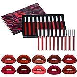 10 Couleurs Set Rouge à Lèvres Liquide Mat, Longue Tenue Waterproof Liquid Lipstick Matte pour Maquillage Quotidien et Fête, Cadeau pour Femme