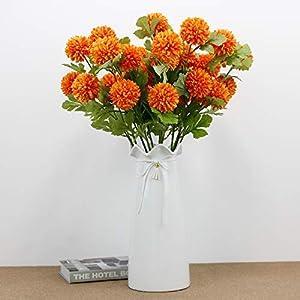 Silk Flower Arrangements RRSHUN 6 Pcs Artificial Flowers Babys Breath Chrysanthemum Flower - Real Touch Fake Flower PU Plants for Wedding Bouquets & DIY Party Home Garden Decor