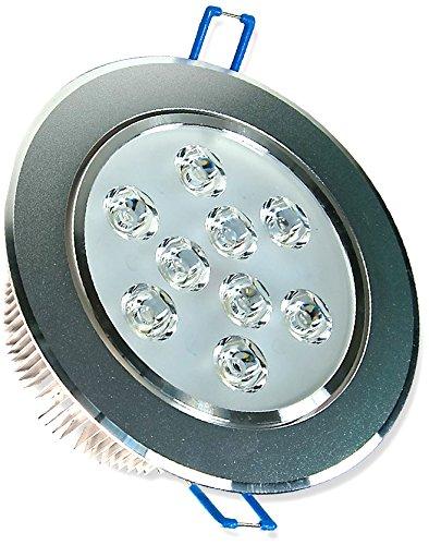 LEDVero - Spot a incasso rotondo, 9 W, colore: bianco freddo