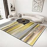 alfombras Pasillo largas y Modernas Alfombra Amarilla, Alfombra de decoración de casa Simple Resistente al Desgaste y a Las Manchas Alfombra Persa -Amarillo_El 160x230cm