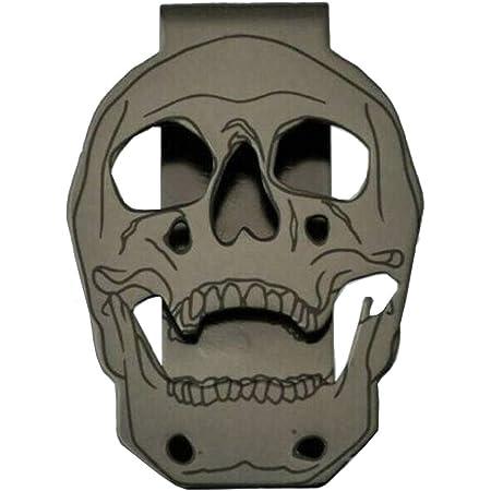 Skull stainless steel tie clip,money clip