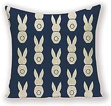 CHDMYTG Rabbit Pillow Case Funny Bunny Farmhouse Home Decor Cushions 45 X 45 Animal Cushion Cover Custom Quality Spring Pillows Cases 45 x 45 cm L1182-6