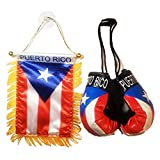 Rainbow Trading Flag and Boxing Gloves Combo Car Rear-View Mirror Office Decor… (Puerto RICO)