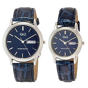 [シチズン Q&Q] ペアウォッチ 軽い 防水 チープ シチズン メンズ レディース ブルー A204A205-302 腕時計 [国内正規品]