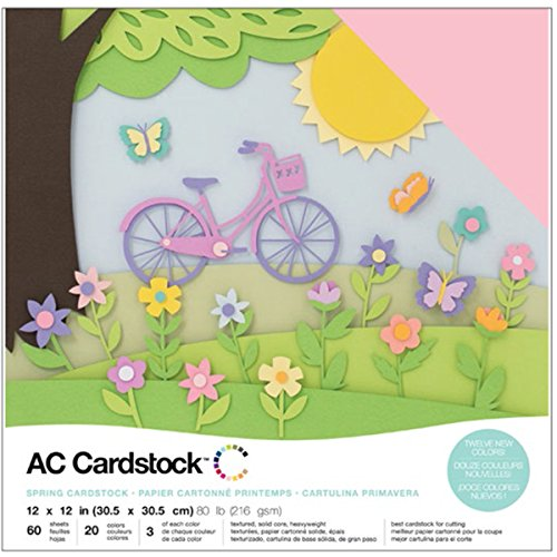 American Crafts Spring Cardstock, 12, 12 by 12