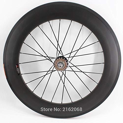 ZLYY 1pcs Nueva 700C 88m m Bordes de la Bici del Engranaje del Camino de Rodadura fijada Mate 3K UD 12K Bicicleta Llena del carbón de Ruedas Anchura de 23 / 25mm (Color : Road Rear Wheel)