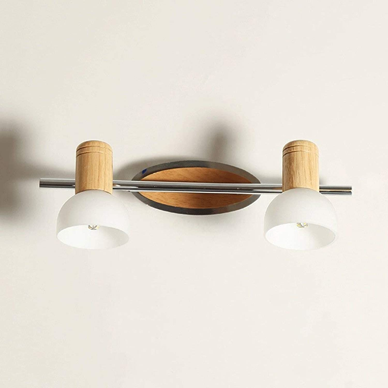 Scofeifei WTL Lighting Solid Wood Wandleuchte, Massivholzspiegelfrontleuchten, wasserdichtes Holz (Gre  4w37cm) (Farbe   4w37cm)