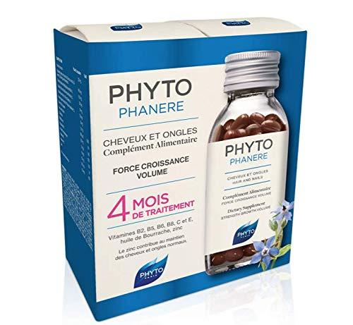 Phyto Phytophanere Complément alimentaire pour cheveux et ongles, 4 mois de traitement, 120 + 120 capsules