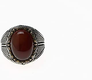 Turkish Silver Ring with Onyx Stone for Men, 1134