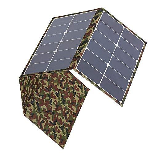 Bangxiu Leichtgewicht Solarpanel Tragbares 120W 18V Dual USB Sunpower Faltbare Sonnenkollektor-Ladegerät Kits for Laptop-Telefon-RV Boot Camping (Farbe : Schwarz, Größe : 117x41cm)