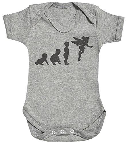 Baby Evolution to A Fairy Body bébé - Gilet bébé - Body bébé Ensemble-Cadeau - Naissance Gris