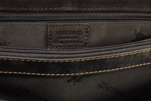 VISCONTI - XL Briefcase - Sultry Leather - Hardwearing/Shoulder/Cross Body/Laptop Compatible/Notebook/iPad/Business/Office/Work Bag - Hercules - 16055 - Oil Brown